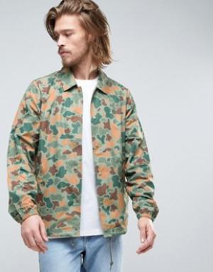 Element Спортивная куртка с камуфляжным принтом джунгли Murray. Цвет: зеленый