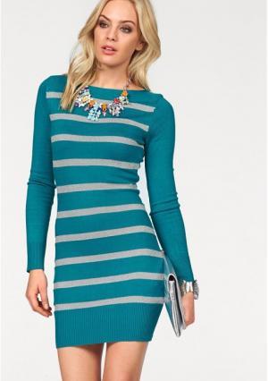 Платье MELROSE. Цвет: зелено-синий/серебристый, лиловый/серебристый, черный/серебристый
