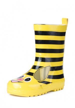 Резиновые сапоги PlayToday. Цвет: желтый