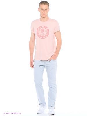 Футболка Colin's. Цвет: бледно-розовый