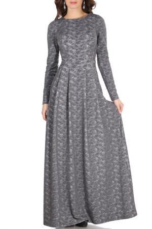 Платье Olivegrey. Цвет: светло-серый