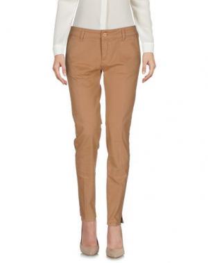 Повседневные брюки VICOLO. Цвет: верблюжий