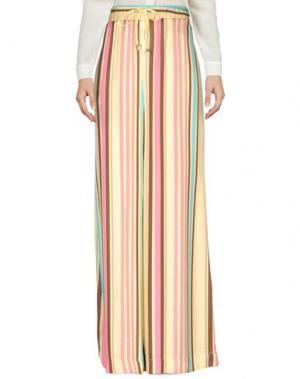 Повседневные брюки NOLITA. Цвет: светло-желтый