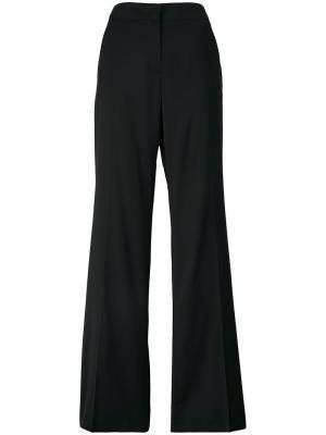 Расклешенные брюки в полоску Nº21. Цвет: чёрный