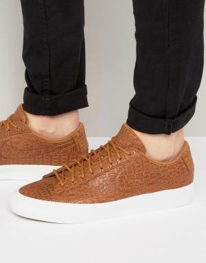 Nike Светло-коричневые кроссовки Blazer Studio 880872-700. Цвет: рыжий