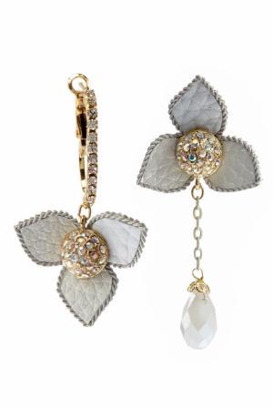 Серьги с кристаллами Herald Percy. Цвет: белый