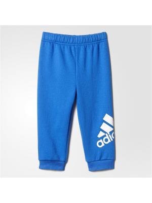 Трикотажные брюки дет. спорт. I FAV KN PANT  BLUE/WHITE Adidas. Цвет: синий, белый