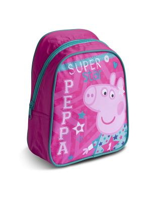 Рюкзачок малый Свинка Пеппа Superstar Peppa Pig. Цвет: розовый, голубой