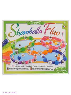 Набор для детского творчества Браслеты Шамбала Флуо SENTOSPHERE. Цвет: салатовый, белый