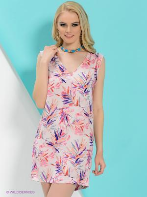 Платье PEPE JEANS LONDON. Цвет: белый, сиреневый, фиолетовый, розовый, персиковый