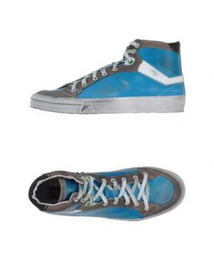 Высокие кеды и кроссовки W DABLIU. Цвет: лазурный