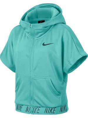 Толстовка G NK DRY HOODIE SS FZ COR STUD Nike. Цвет: голубой, синий