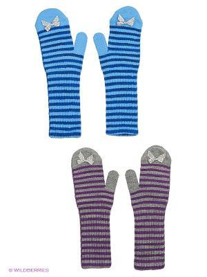 Варежки FOMAS. Цвет: серый, голубой, фиолетовый, синий