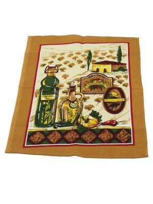 Набор кухонных полотенец Римейн. Цвет: бежевый, зеленый