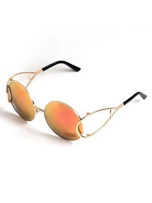 Солнцезащитные очки Selena. Цвет: золотистый, розовый