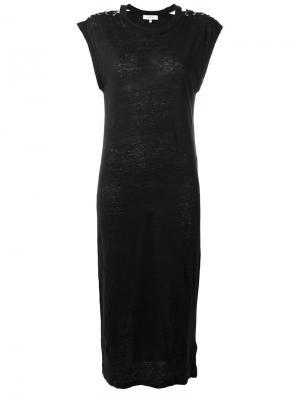 Платье со шнуровкой на плечах Iro. Цвет: чёрный