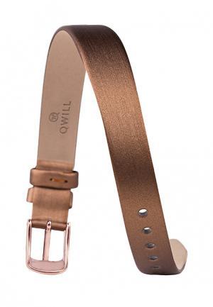 Ремешок для часов Qwill. Цвет: коричневый