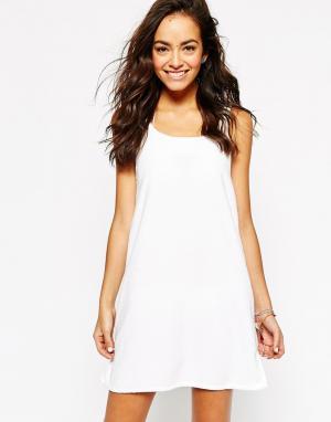 Echo Махровое пляжное платье Solid. Цвет: белый