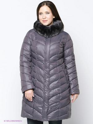 Пальто Vlasta. Цвет: серый