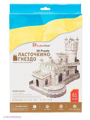 3D-пазл Ласточкино гнездо CubicFun. Цвет: синий, желтый, белый
