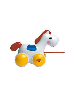 Игрушка Лошадь на колесах Tolo. Цвет: белый