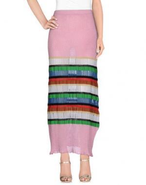 Длинная юбка AKEP. Цвет: розовый