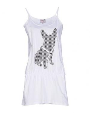 Короткое платье DOLORES PROMESAS HELL. Цвет: белый