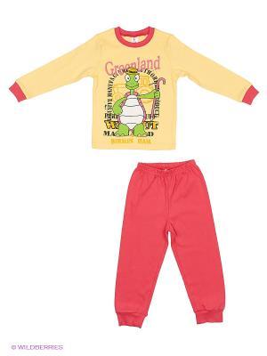 Пижама PEPELINO. Цвет: коралловый, желтый