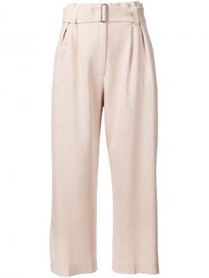 Широкие укороченные брюки A.L.C.. Цвет: телесный