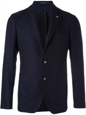 Пиджак с застежкой на две пуговицы Tagliatore. Цвет: синий