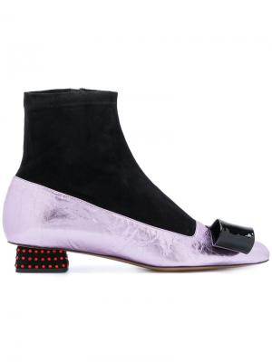 Туфли-лодочки с носком Rayne. Цвет: чёрный
