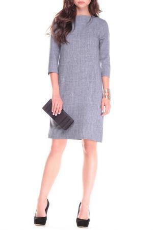 Платье MAURINI. Цвет: дымчатый
