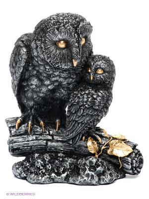 Статуэтка Сова с совенком Veronese. Цвет: серый, золотистый