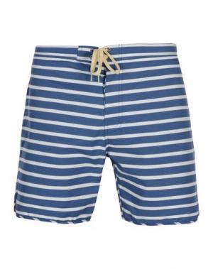 Пляжные брюки и шорты MOLLUSK. Цвет: синий