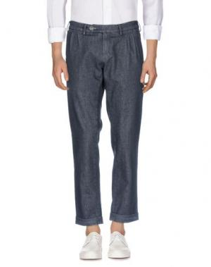 Джинсовые брюки BARBA Napoli. Цвет: стальной серый