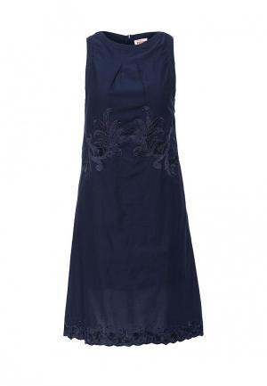 Платье Indiano Natural. Цвет: синий