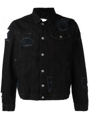 Рваная куртка Misbhv. Цвет: чёрный