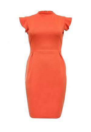 Платье LOST INK CURVE. Цвет: оранжевый