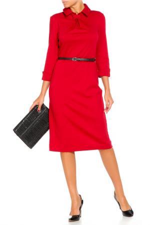 Платье с ремнем Argent. Цвет: розовый