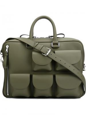 Портфель с несколькими карманами Valas. Цвет: зелёный