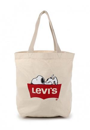 Сумка Levis® Levi's®. Цвет: бежевый