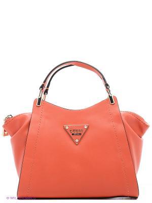 Сумка GUESS. Цвет: коралловый, оранжевый, бронзовый