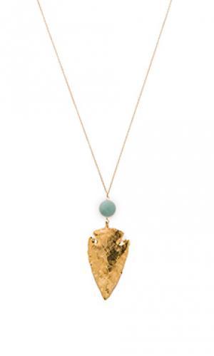 Ожерелье remi Mimi & Lu. Цвет: металлический золотой
