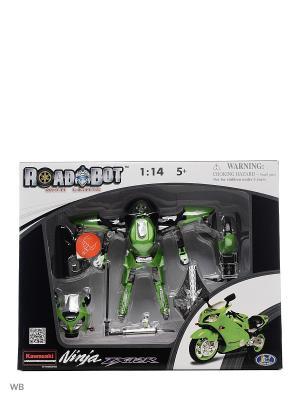 Робот Galaxy Defender мотоцикл kawasaki 1:14 Happy Well. Цвет: зеленый