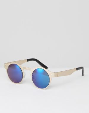 Spitfire Круглые солнцезащитные очки. Цвет: серебряный