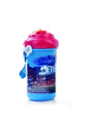Поильник спортивный с крышкой и трубочкой, 400 мл. 12+ Vehicles, цвет: синий Canpol babies. Цвет: синий