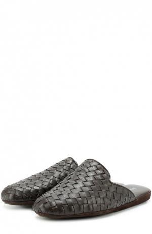 Домашние кожаные туфли Homers At Home. Цвет: коричневый
