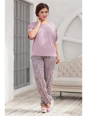 Комплект одежды CLEO. Цвет: бледно-розовый, сиреневый