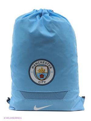 Рюкзак ALLEGIANCE MAN CITY GYMSACK Nike. Цвет: голубой