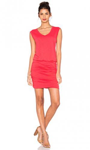 Платье bardot Velvet by Graham & Spencer. Цвет: красный